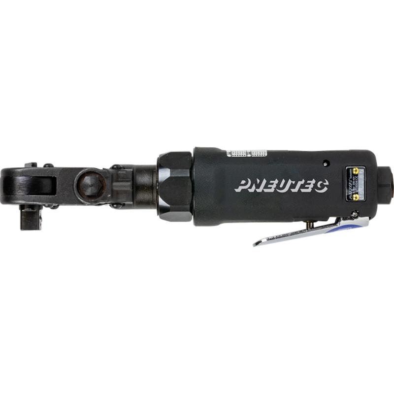 Cheie cu clichet si cap rabatabil la 45°, 3/8'' reversibila, PNEUTEC max. 35 Nm, forma dreapta, tip UT8004