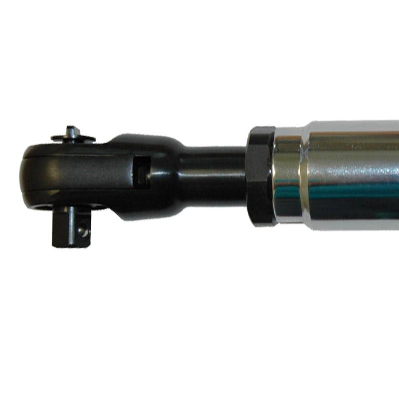 Cheie cu clichet lunga 300 mm, 3/8'' reversibila, PNEUTEC max. 100 Nm, forma dreapta, tip UT8009
