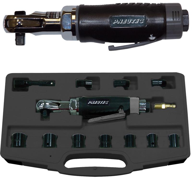 Cheie cu clichet 3/8'' PNEUTEC HITEC LINE, max. 40 Nm + Set chei tubulare 8-19mm, tip UT8001BS