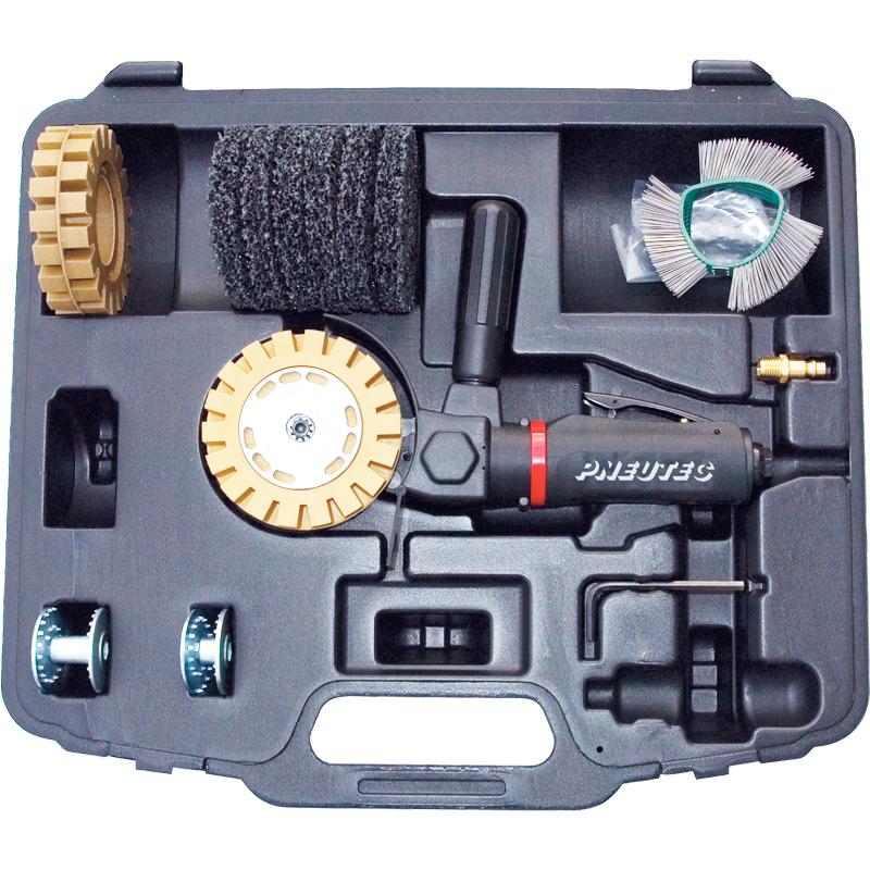 Masina de polisat pneumatica multifunctionala (Polizor), 3.500 rpm, cu set accesorii in geanta, PNEUTEC Multi-Grinder tip UT5860S