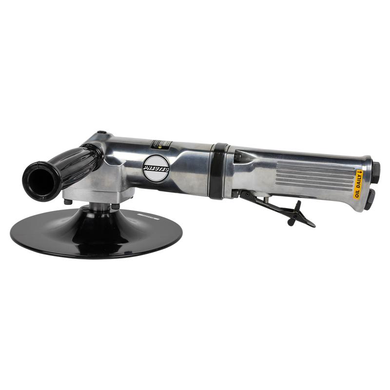 Polizor unghiular pneumatic 500 W, 178 mm, 2500 rot/min, ax M14 si maneta de actionare de siguranta, cu posibilitate racordare la apa, tip UT8752RW