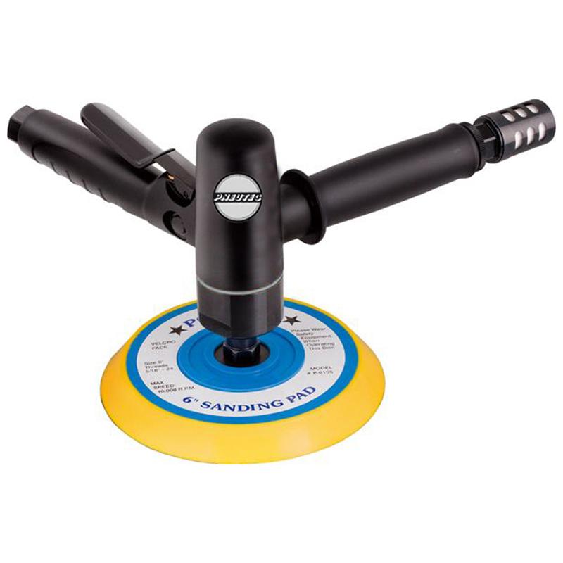 Masina de polisat pneumatica cu control al vitezei de rotatie taler, 150mm, 3000 rpm, PNEUTEC